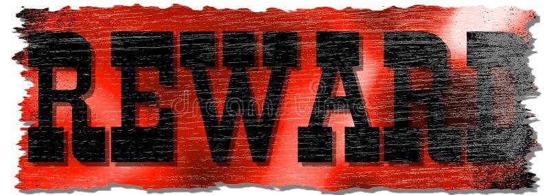 Signe rouge affligé de récompense illustration libre de droits