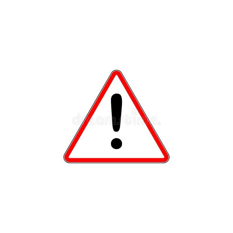 signe rouge d 39 exclamation panneau routier de triangle de danger illustration de vecteur. Black Bedroom Furniture Sets. Home Design Ideas