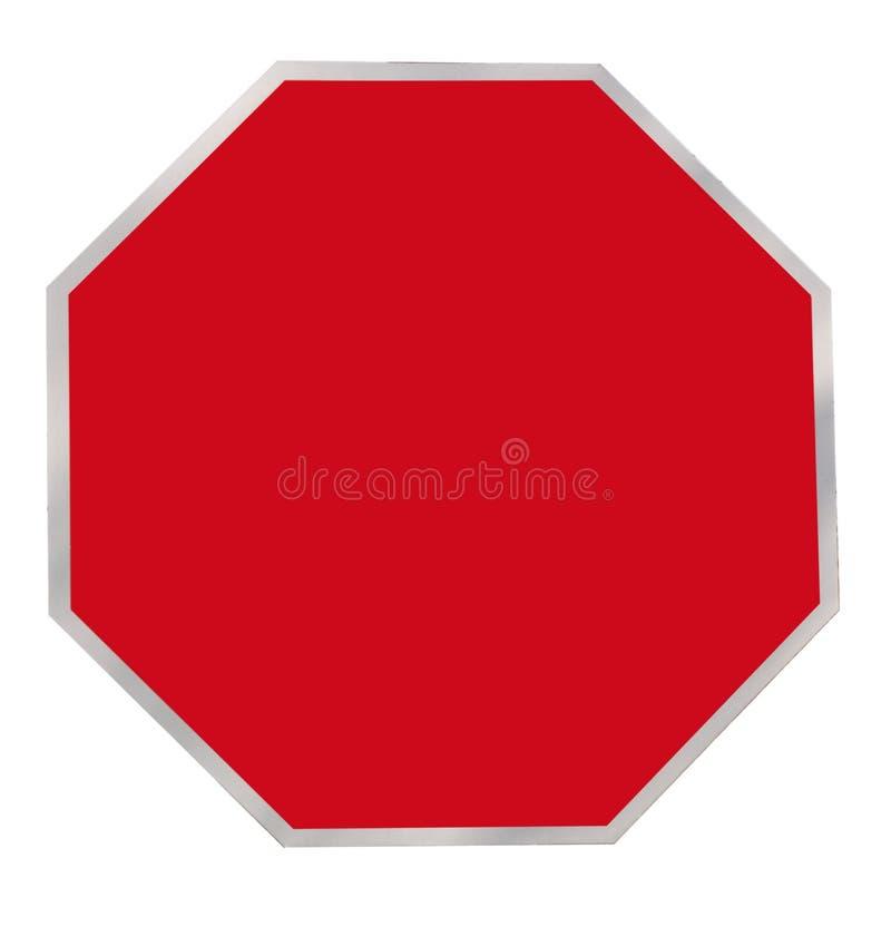 Signe rouge de blanc d'octogone images stock