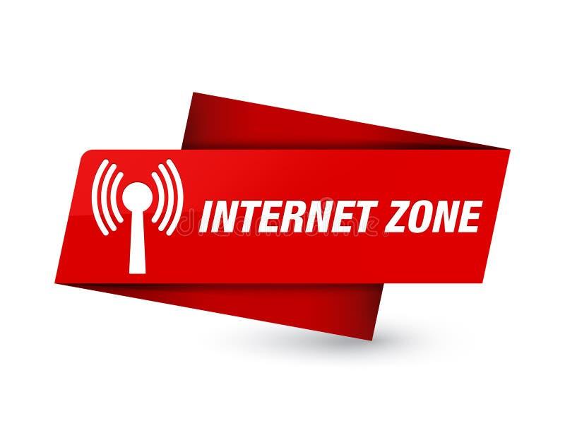 Signe rouge de la meilleure qualité d'étiquette de zone d'Internet (réseau wlan) illustration libre de droits