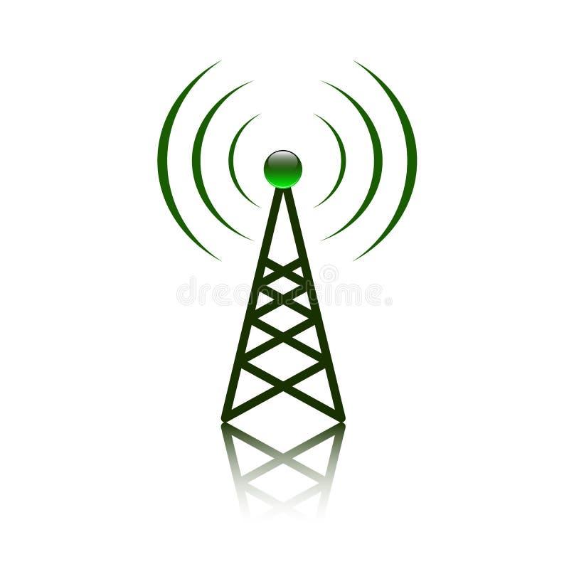 Signe rouge de mât d'antenne illustration libre de droits