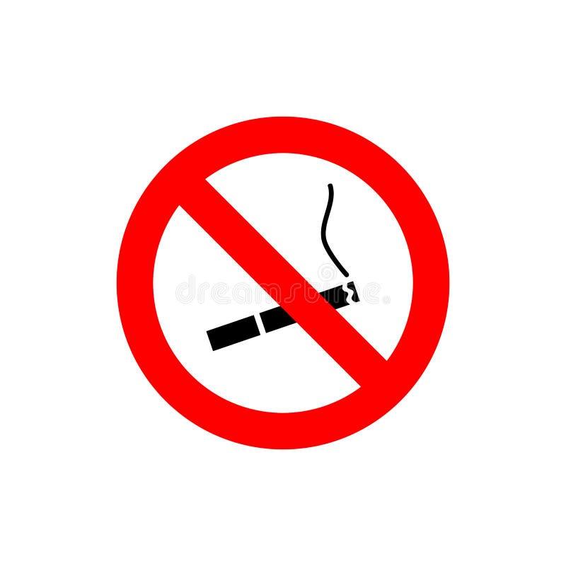 Signe rouge non-fumeurs de cercle illustration de vecteur