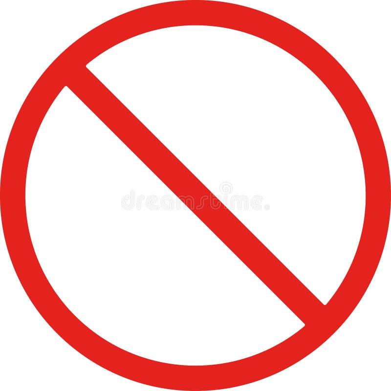 Signe rouge non permis photos libres de droits