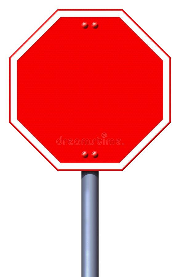 Signe rouge vide d'arrêt de route illustration stock