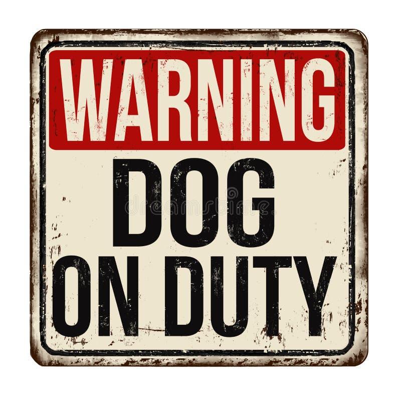 Signe rouill? en m?tal de cru en service de chien illustration libre de droits