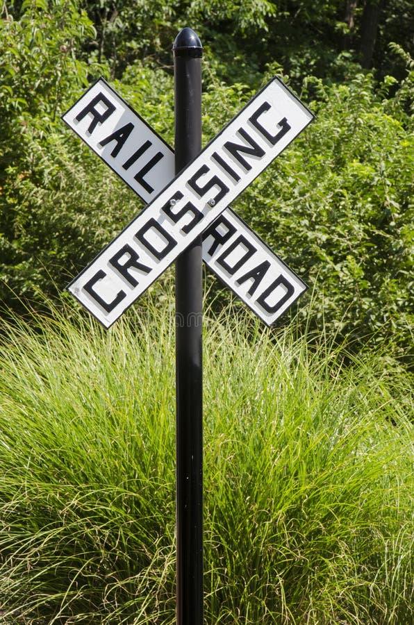 Signe rural de croisement de voie ferrée images libres de droits