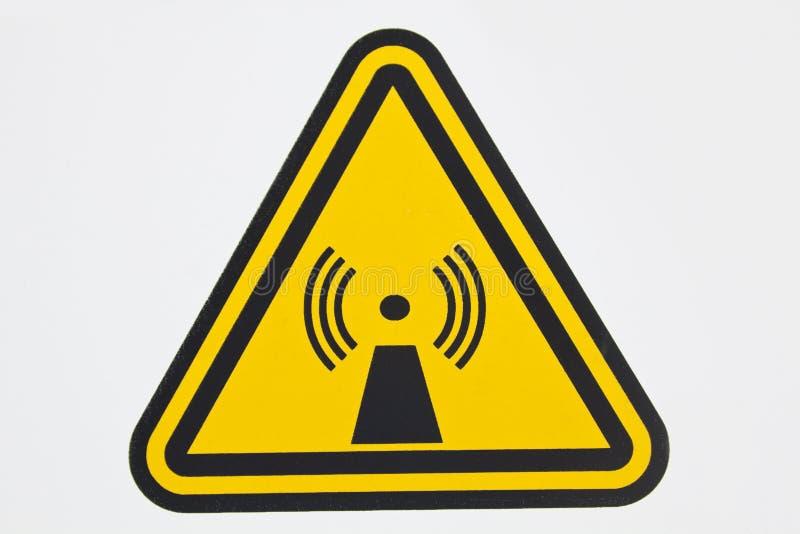 Signe sans fil de rayonnement photo libre de droits