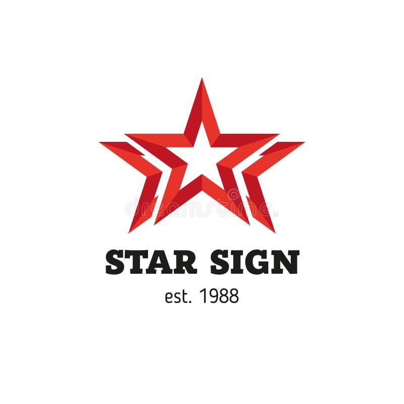 Signe simple sous forme d'étoile illustration stock