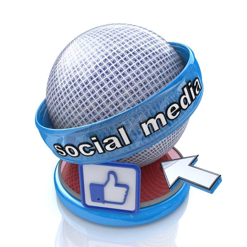Signe social de media illustration libre de droits