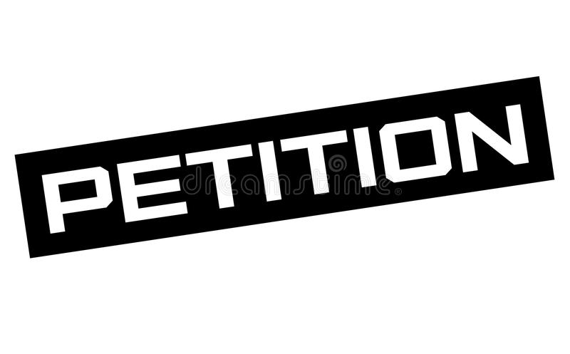 Signe typographique de pétition illustration stock