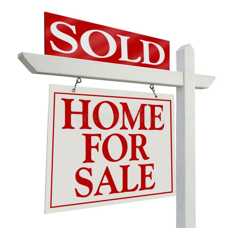 Signe vendu d'immeubles image libre de droits