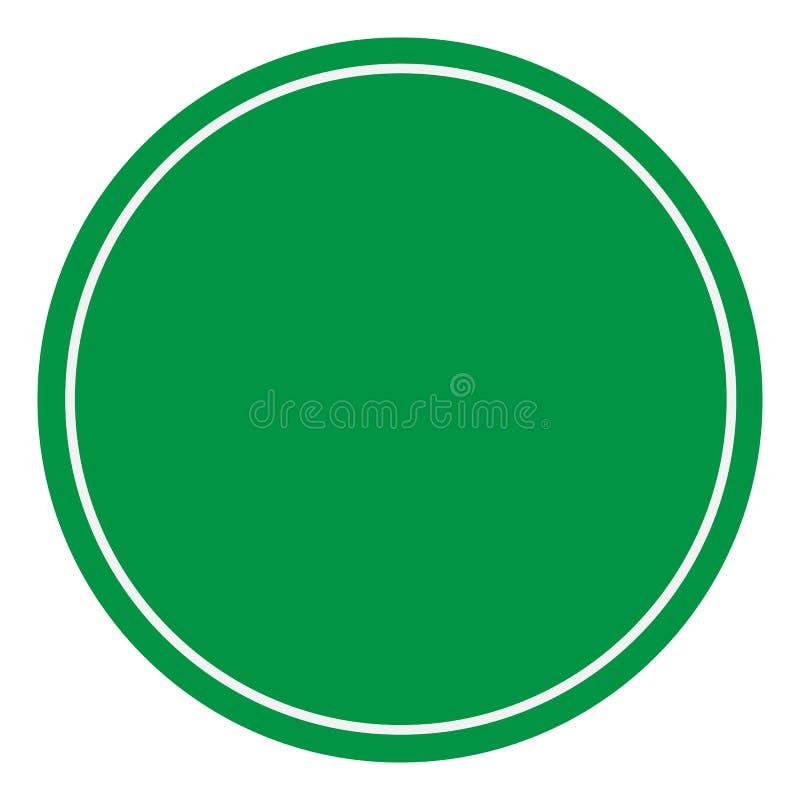 signe vert blanc Style plat symbole vert vide sur le fond blanc Panneau d'avertissement vide symbole vert du trafic illustration de vecteur