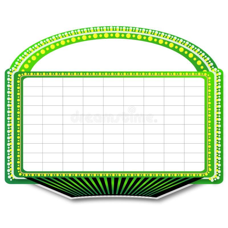 Signe vert de chapiteau de théâtre illustration de vecteur