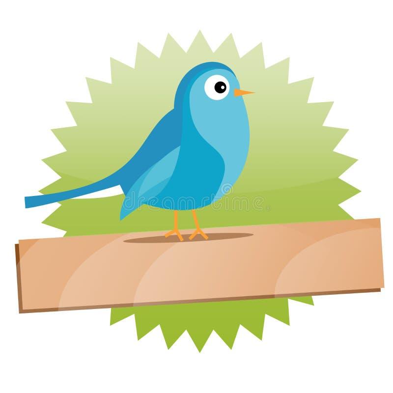 Signe vert de Twitter avec l'espace pour le texte illustration de vecteur