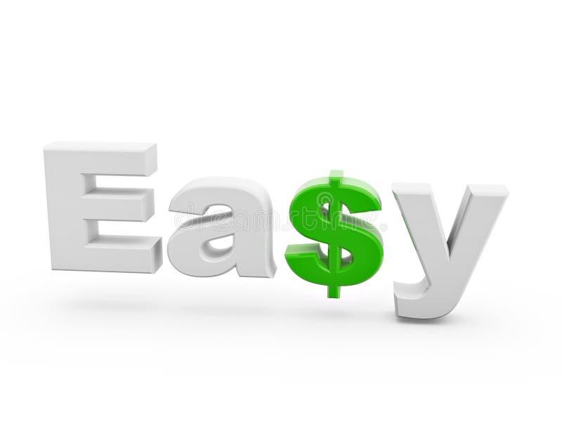 Signe vert facile du dollar illustration de vecteur