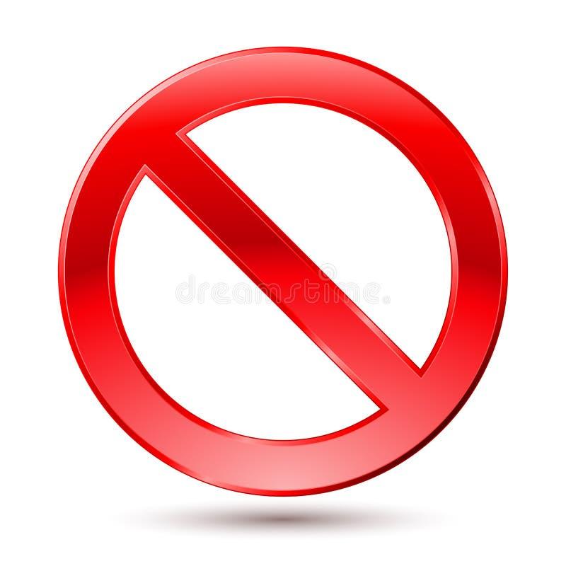 Signe vide d'interdiction illustration libre de droits