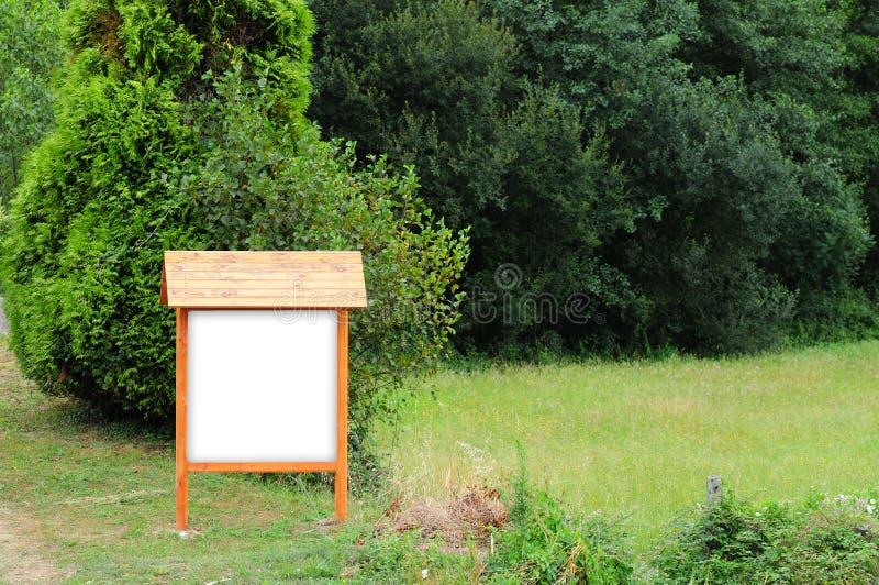 signe vide en bois photo libre de droits
