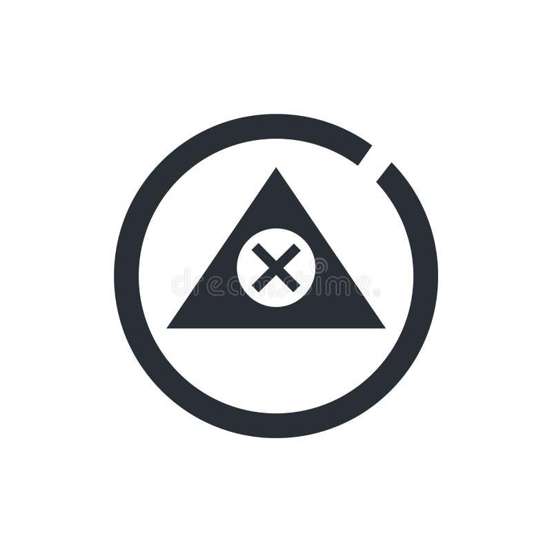 Signe vigilant et symbole de vecteur d'icône de signe d'isolement sur le fond blanc, concept vigilant de logo de signe illustration de vecteur