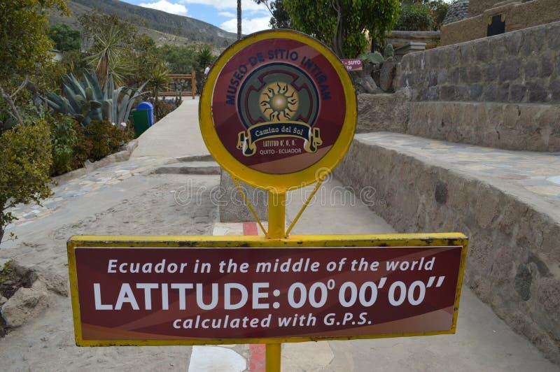 Signe zéro de latitude photo libre de droits