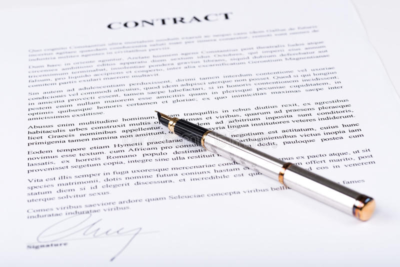 signed contract stock photo  image of form  text