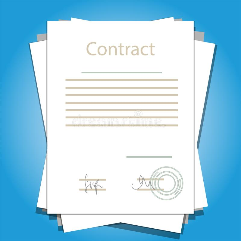 Free Signed Paper Deal Contract Agreement Business Vector Illustration Royalty Free Stock Photo - 102870475