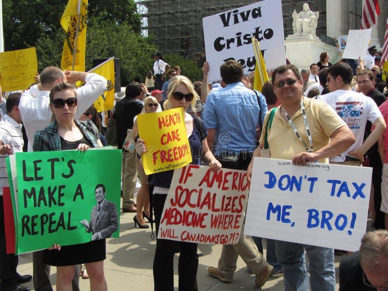 Signes à la court suprême photo libre de droits