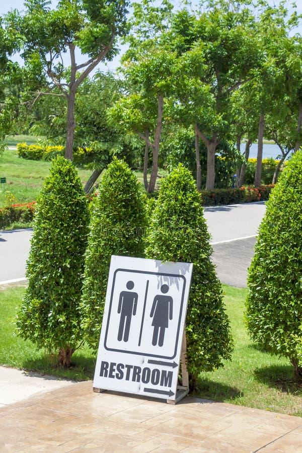 Signes à la salle de bains photographie stock libre de droits
