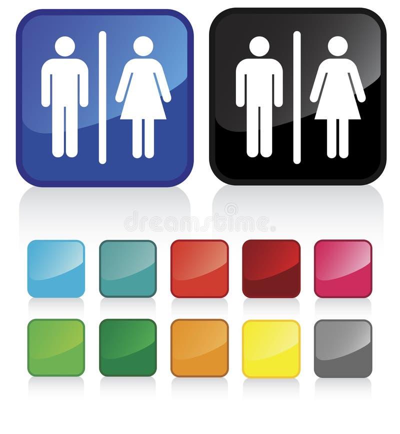 Signes 1 de salle de bains illustration libre de droits