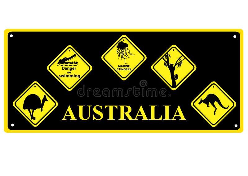 Signes australiens illustration libre de droits