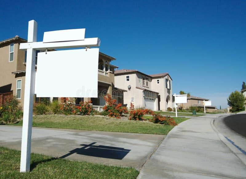 Signes blanc d'immeubles image libre de droits