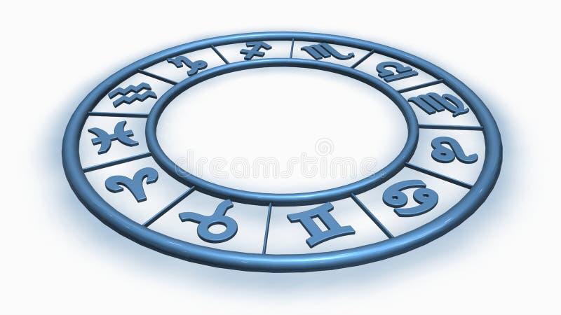 Signes bleus d'étoile de zodiaque illustration stock