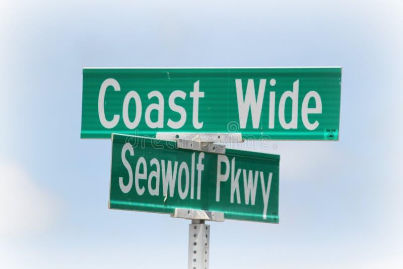Signes côtiers photographie stock