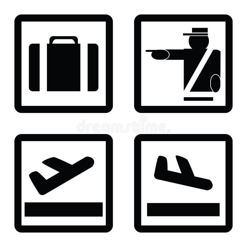 Signes d'aéroport illustration stock