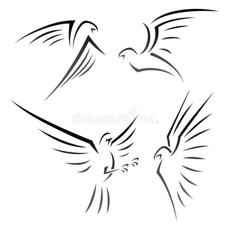 Signes d'Eagle illustration libre de droits