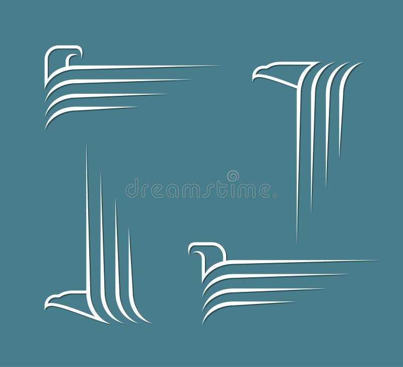 Signes d'Eagle illustration de vecteur