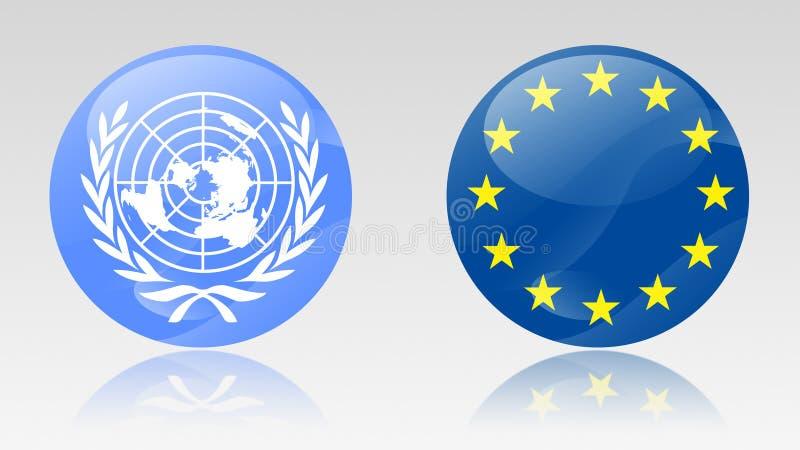 Signes d'Eu et d'ONU illustration de vecteur