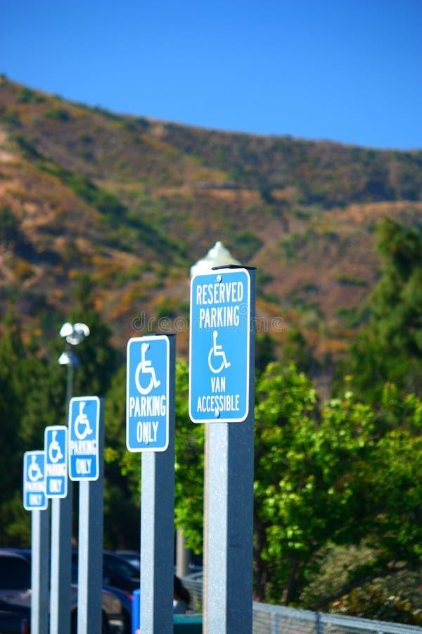 Signes d'handicap photographie stock libre de droits