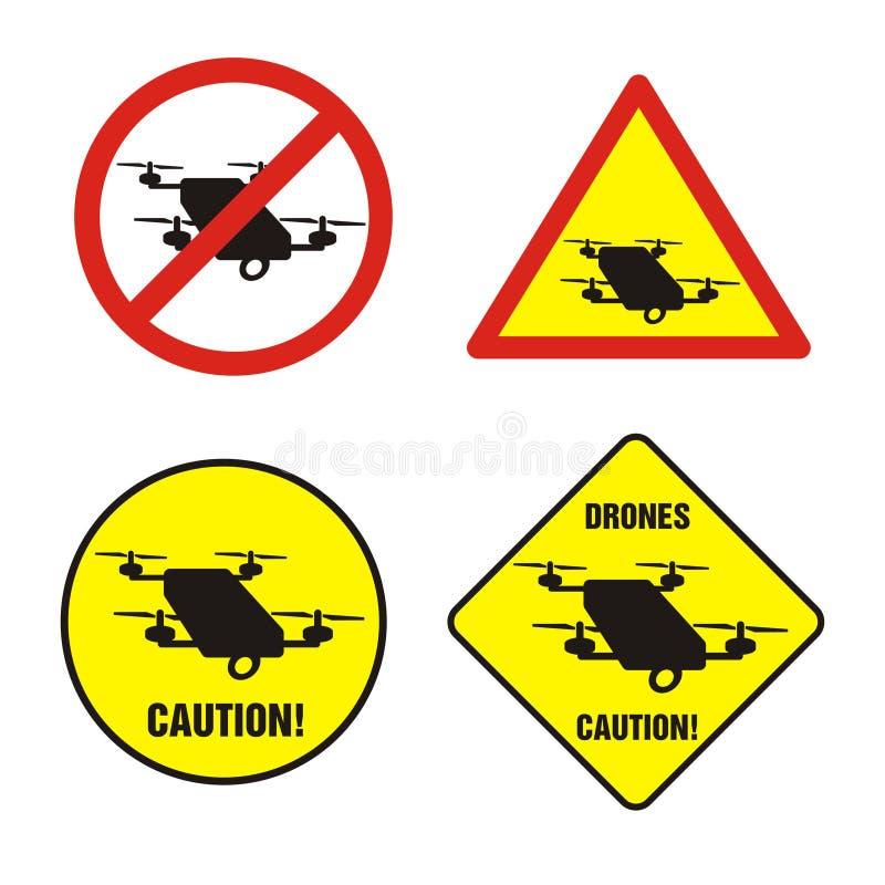 Signes d'interdiction de bourdons illustration stock
