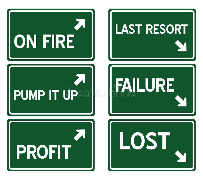 signes d'omnibus illustration de vecteur