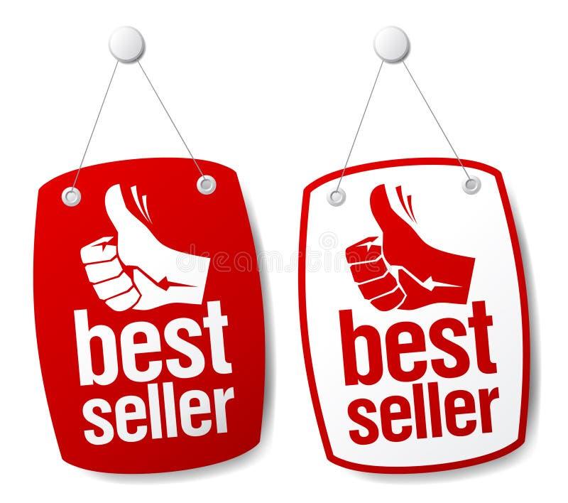 Signes de best-seller. illustration libre de droits