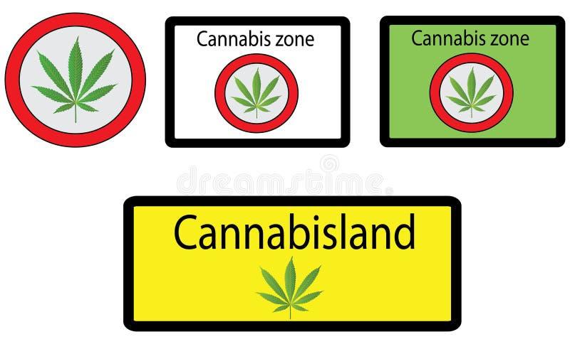Signes de cannabis illustration libre de droits