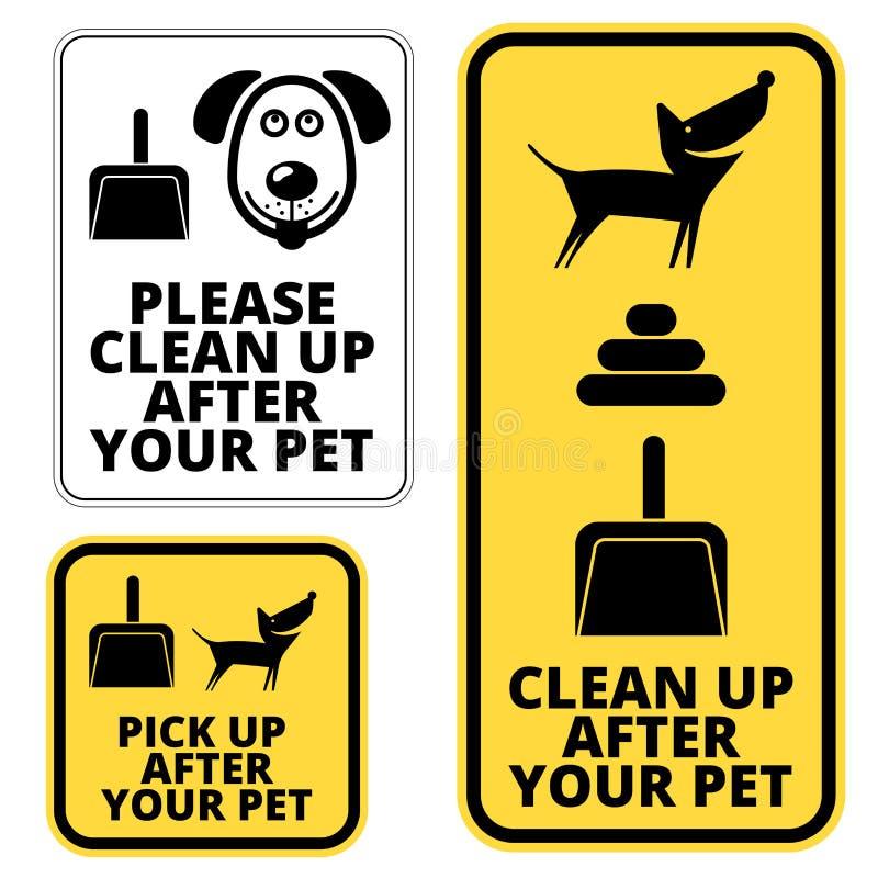 Signes de chien illustration libre de droits