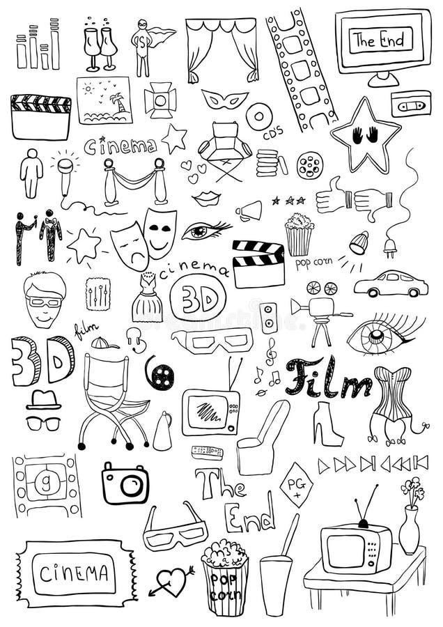 Signes de cinéma illustration de vecteur