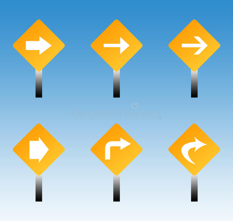 Signes de circulation routière illustration de vecteur