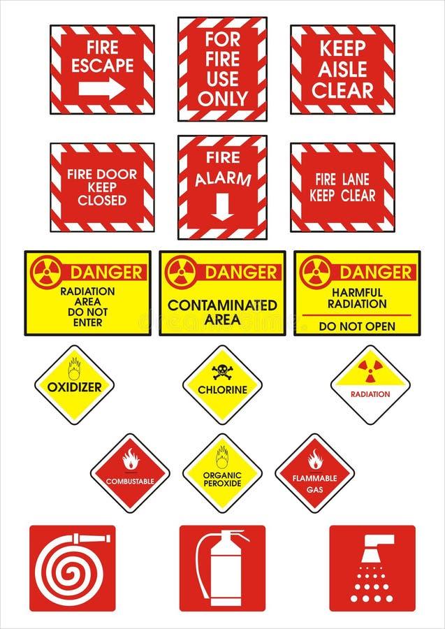 Signes de danger photographie stock