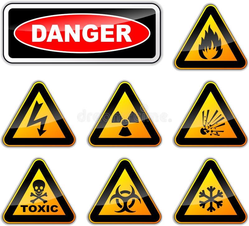 Signes de danger de vecteur illustration libre de droits