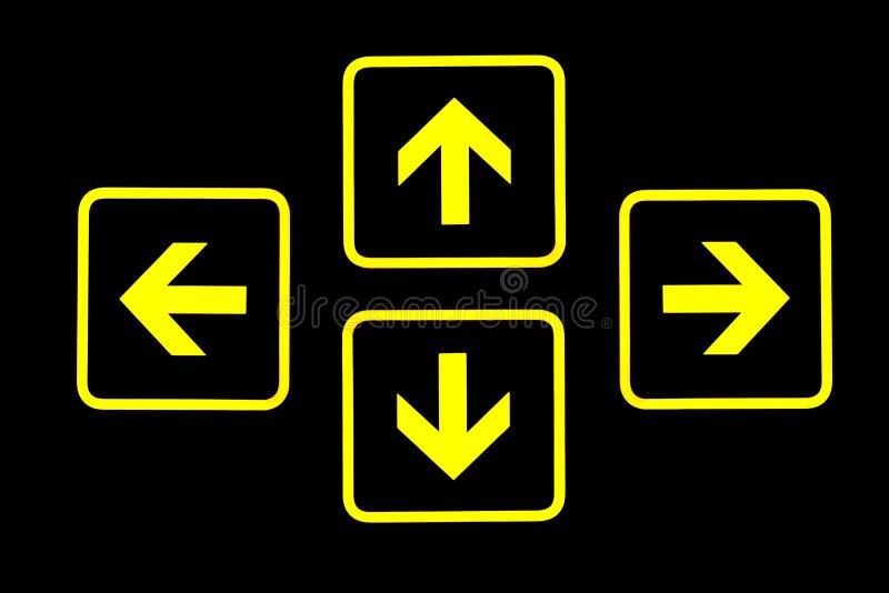 Signes de flèche image stock