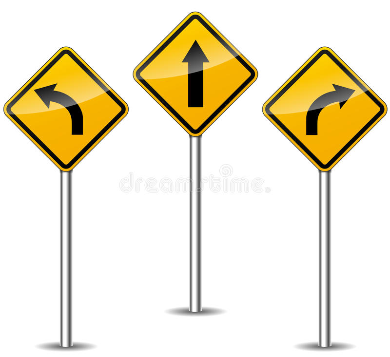 Signes de flèches de vecteur illustration stock