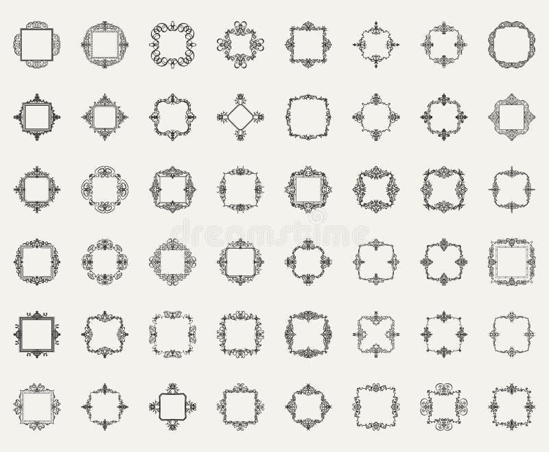 Signes de flourish d'affaires et frontière classique de logo illustration de vecteur