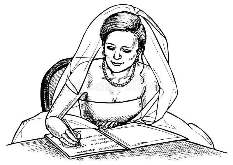 Signes de jeune mariée images libres de droits